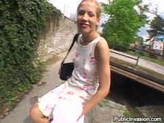 Sex for cash with a blonde hottie who agreed to give a blowjob outdoors Thumb