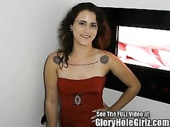 Angelica deep-throats & drills Strangers in the Gloryhole Thumb