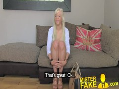 MisterFake Hot blonde young amateur tricked in casting Thumb