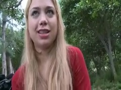 Blonde teen bj in the park Thumb
