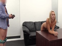 Hot elegant blonde is being fucked at the casting in the hot POV scene Thumb