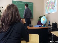 Hardcore teacher fucks with a slender coed in the classroom Thumb