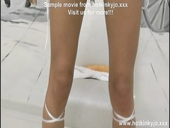 XO speculum, loong cumbot  and plastic dress play Hotkinkyjo Thumb