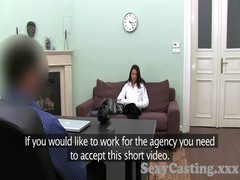 Casting HD Blonde takes anal creampie in interview Thumb