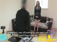 MisterFake Brunette with amazing tits fooled for 2nd castin Thumb