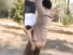 An acrobatic outdoor suck off piece dumb 2 - WITH SOUND Thumb