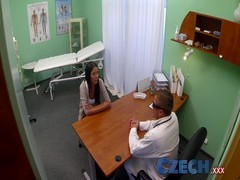 Czech Patients bad back doesn't stop doctor bending her over Thumb