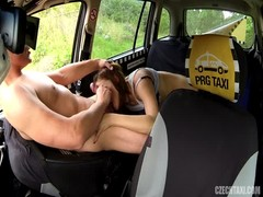 Awesome big-ass slut is sucking taxi driver's dick on cam Thumb