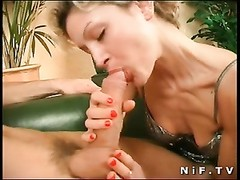 French slut gets a huge dick in her booty Thumb
