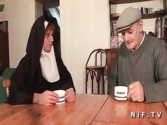 A french nun hard sodomized in threeway Thumb
