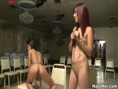 Watch hot lesbians licking each other cunts before a kinky jury Thumb