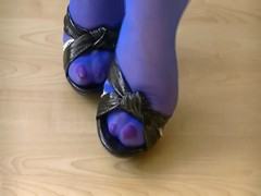 Stockings and heel foot play Thumb