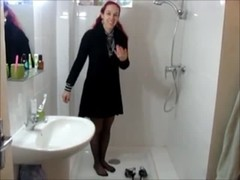 Wetlook pantyhose shower Thumb