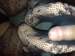 Reverse foot job in black lace lingerie part1 Thumb