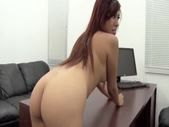 Long-haired Latina is being fucked in the doggy style pose Thumb