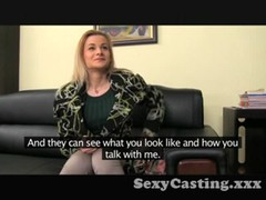Casting Shy blonde takes big dick in interview Thumb