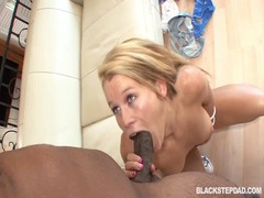 Massive black dong is filling out her tight holes! Thumb