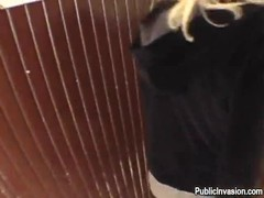 Blowjob in the toilet by a sweet blonde ex girlfriend Thumb