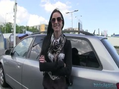 Girl in sunglasses is fucking for money in the video by Public Agent Thumb