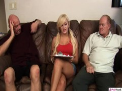 Teenager slut is being drilled hard by two old males Thumb
