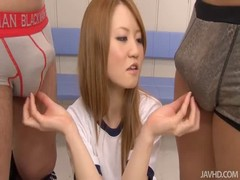 Sensual Japanese teen is sucking two horny pricks on cam Thumb