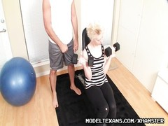 Perverted Trainer Grooms itsy yellow-haired Spinner Girly Thumb