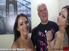 ImmoralLive BRUNETTES SQUIRTING in an INTERRACIAL FOURSOME! Thumb