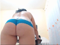 Busty BBW strips and toys Thumb