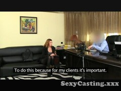 Casting Horny amateur sucks and fucks in interview Thumb