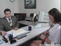 Impressive young secretary takes a juicy prick of her boss Thumb