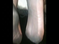 Nylon stocking foot job Thumb