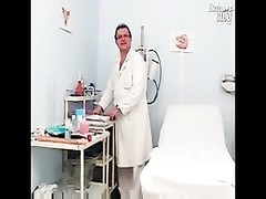 Helga gyno vulva speculum examination on gynochair at insane Thumb