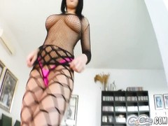 big boob babe's verbal delight and jizz times four Thumb