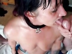 Webman - female blow shaft and gets facial from numerous boys Thumb