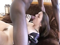 hubby films brunette wife plowing big dim man rod without a condom Thumb