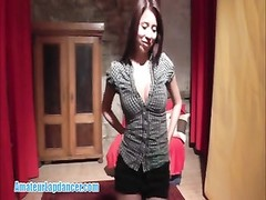 oriental hotty does a killer lapdance then gobbles ball-sac  and sausage Thumb