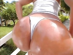 Luana big greasy Brazilan cabooses  two Thumb