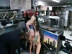 anal fisting blondy in Pizzeria -AFM- Thumb