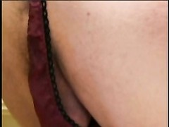 A handsome female with hookup fucktoy  strap on and one stud blowing sex toy on the bathroom Thumb