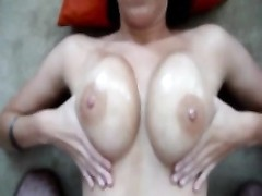 Filming wifes oiled jugs Thumb