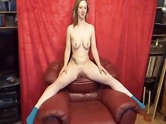 Bea-Red Leather Chair Thumb