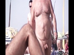 French naturist beach Cap d'Agde people walking nude 09 Thumb