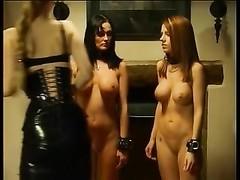 two wonderful stunners getting punished by dominatrix Thumb
