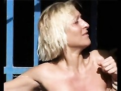 Outdoor flagellating  of blondy wife in xxx  public bdsm Thumb