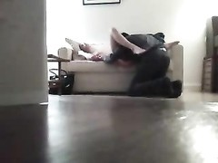 Hidden Cam catches couch hookup Thumb