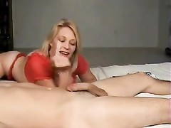 Blond gives oral job, smoking Thumb