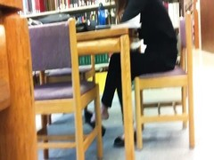 candid asian Library Feet Shoeplay Flats suspending Pt 1 Thumb