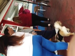 fleshy butt Armenia in blue leggings Thumb