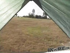 fantastic inexperienced dismal couple ravages IN THE TENT expressionless! Thumb