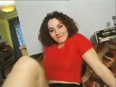 cute curly haired brunette with Ben Dover and co. Thumb